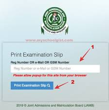 How To Print And Also Reprint Your Jamb UTME Slip With All You Need To Know